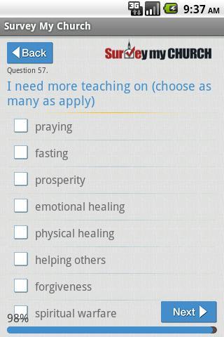 Survey My Church
