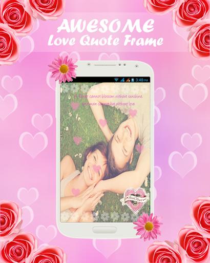 Love Quotes Valentine Frame