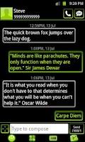 Screenshot of GO SMS Theme Lime Green Neon