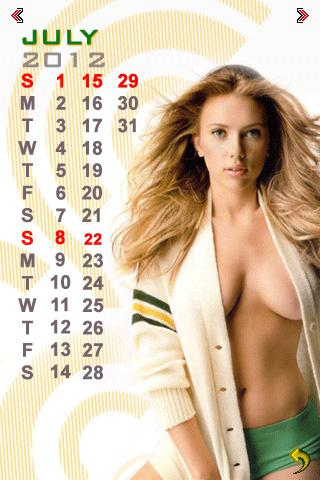 Super Models Calendar 2012 - screenshot