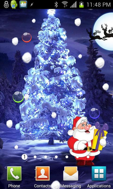Santa Christmas Snowfall Live- screenshot