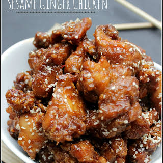 """Take-Out"" Sesame Ginger Chicken."