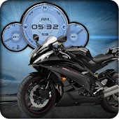 Yamaha R6 Black Compass HD LWP
