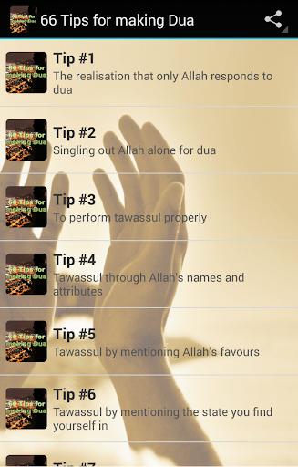 66 Tips for making Dua