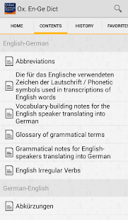 Oxford German Dictionary - screenshot thumbnail