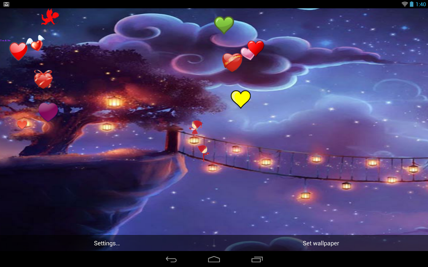 valentine live wallpaper free screenshot - Live Valentine Wallpaper
