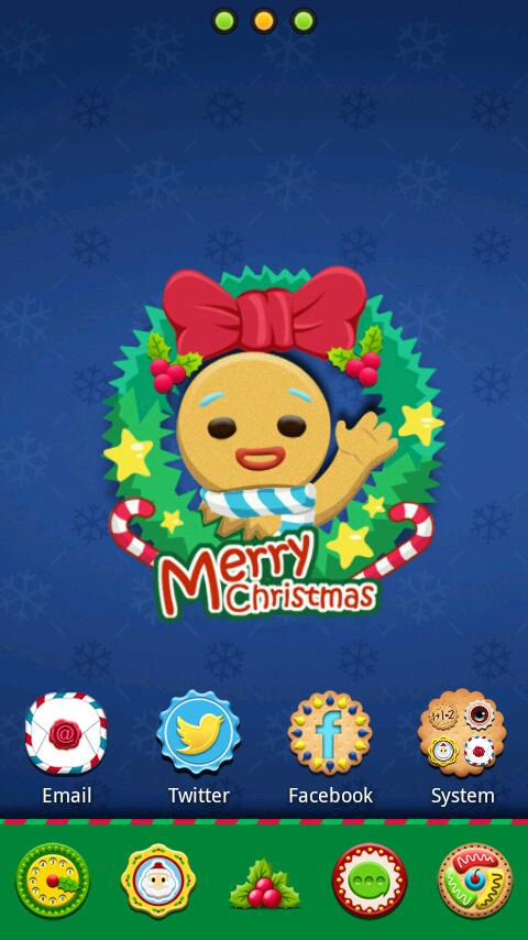 Gingerbread GO Launcher Theme - screenshot