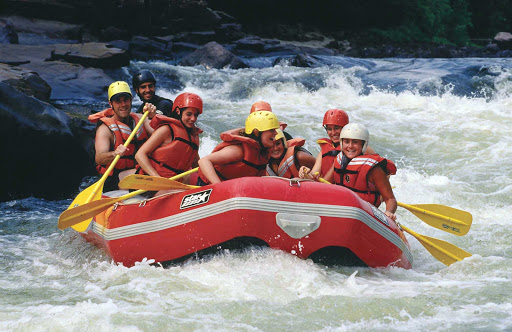 White-water rafting in the Laurentides (Laurentians) Quebec, Canada.