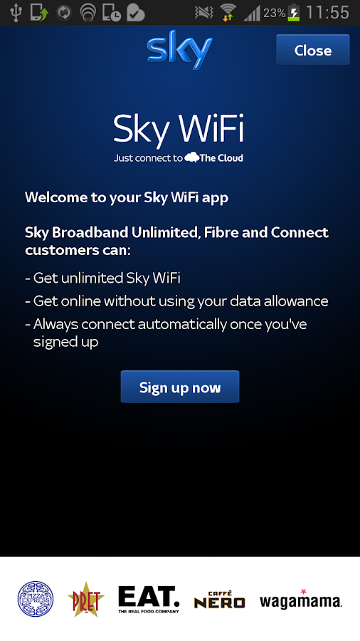 Sky WiFi- screenshot