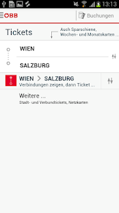 ÖBB Tickets - screenshot thumbnail