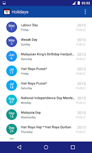 Malaysia Public Holiday 2017- screenshot thumbnail