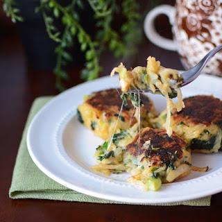 Spinach Potato Cakes with Parmesan.