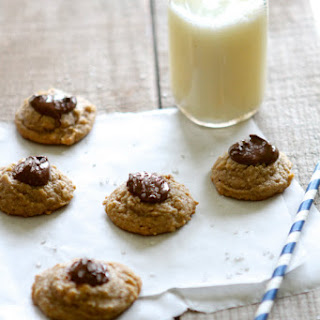 Salted Nutella Peanut Butter Thumbprint Cookies {naturally gluten free}