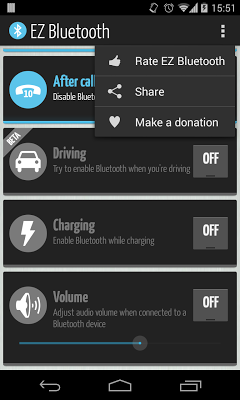 EZ Bluetooth - screenshot