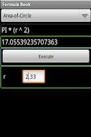 Screenshot of Formula Book