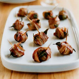 Pancetta-Wrapped Mushrooms.