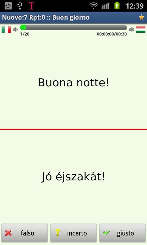 Imparare l'ungherese- screenshot