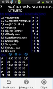 Bus schedule of Szombathely Screenshot 2