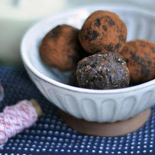 Vegan Chipotle-Chocolate Truffles.