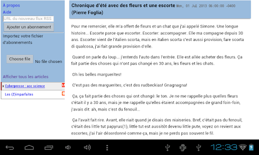 Full Feed Super RSS Reader - screenshot thumbnail