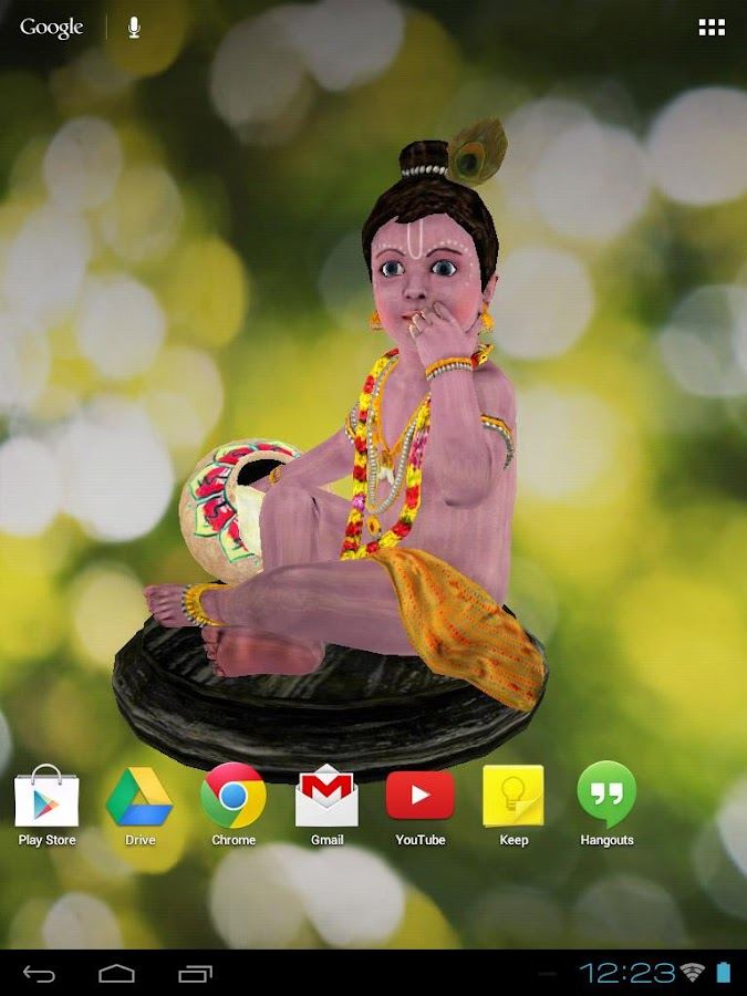 3D Little Krishna Wallpaper - screenshot
