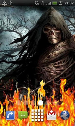 Death Grim Reaper Fire LWP