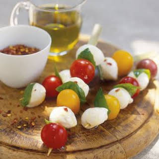 Bocconcini and Tomato Skewers.