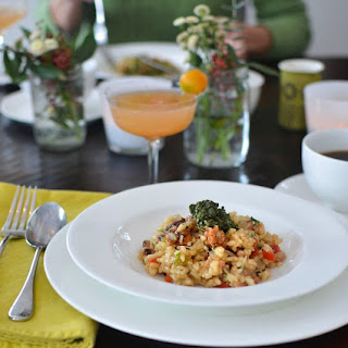 Hoppin' John Risotto with Collard Pesto