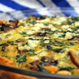 Three Cheese-Vegetable Quiche.