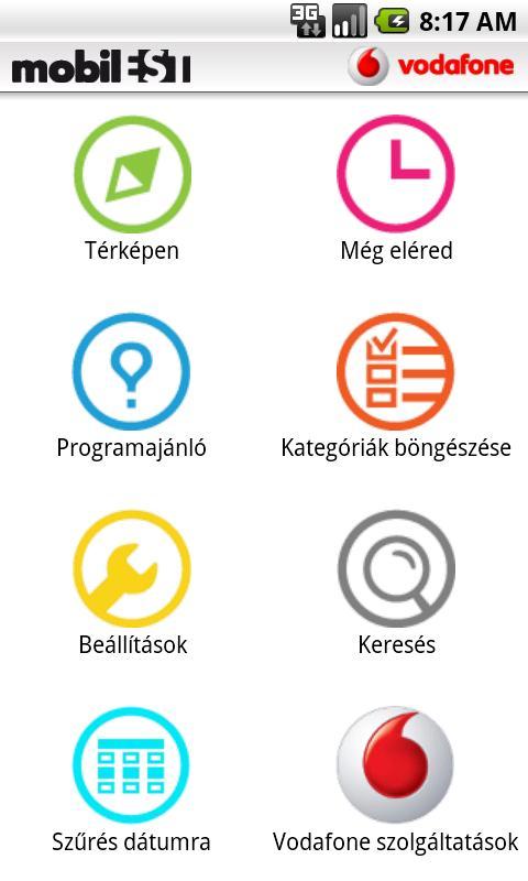 mobilEST programguide - screenshot