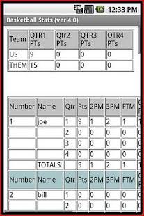 Basketball Stats- screenshot thumbnail