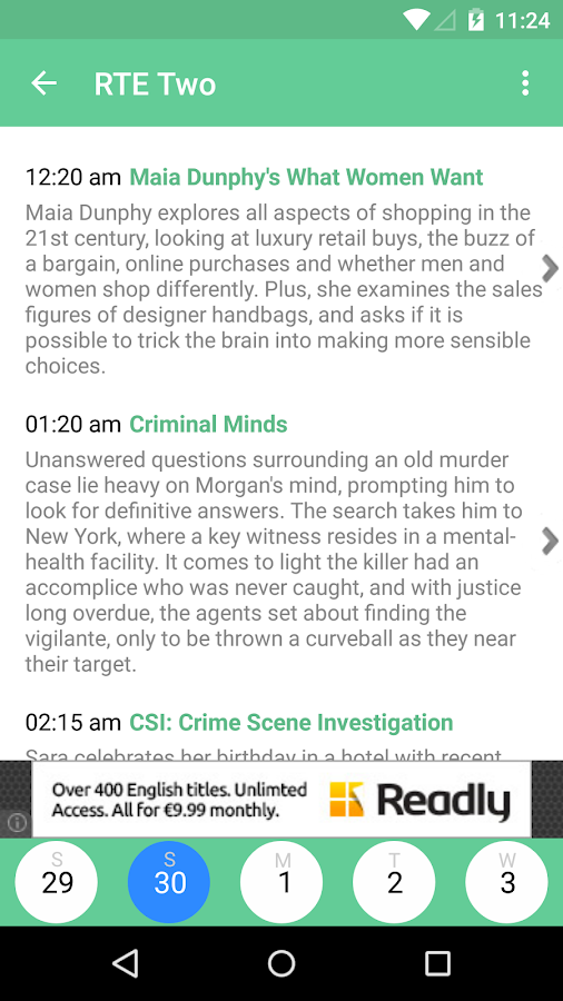 TV Listings - Ireland- screenshot