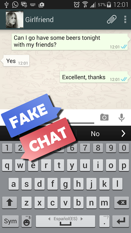 Fake Chat Simulator- screenshot