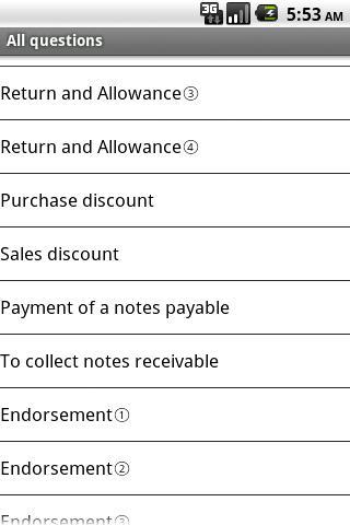 Bookkeeping training- screenshot
