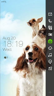Cute Pets Live Locker Theme - screenshot thumbnail