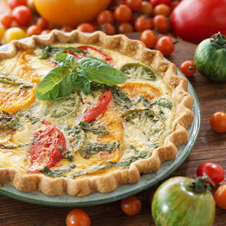 Heirloom Tomato and Onion Quiche