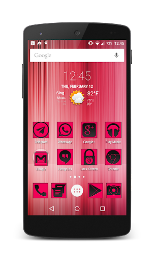 BlackRosa Icons CM12 Launchers