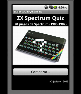 ZX Spectrum Quiz Demo