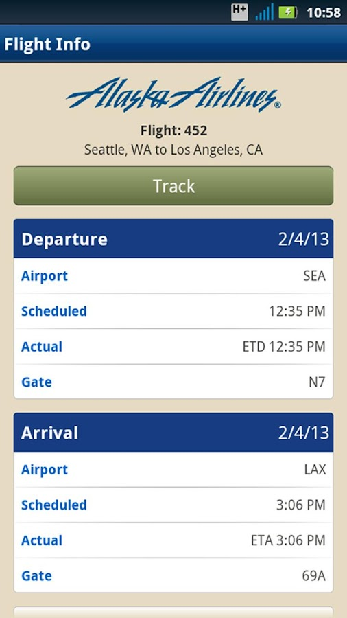 Alaska Airlines - screenshot