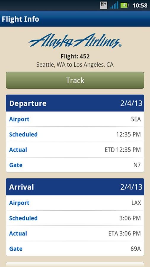 Alaska Airlines - Travel - screenshot