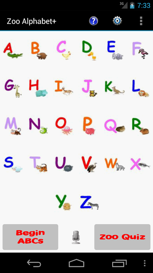 Zoo Alphabet (adfree)- screenshot