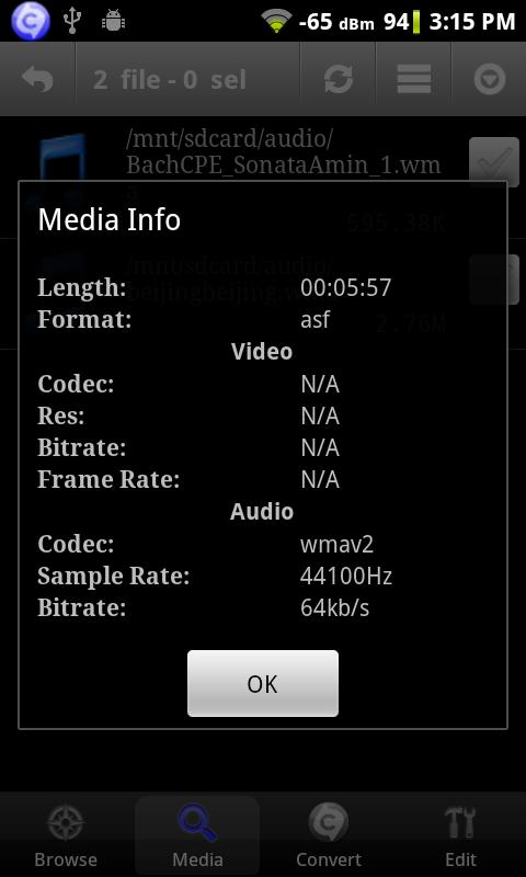Android Audio Editor - screenshot
