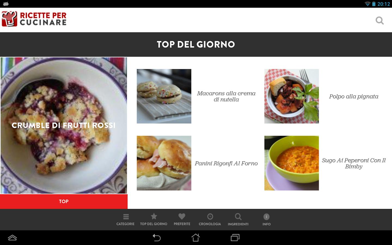 Ricette per Cucinare- screenshot