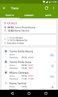 Screenshot of Train Timetable Italy