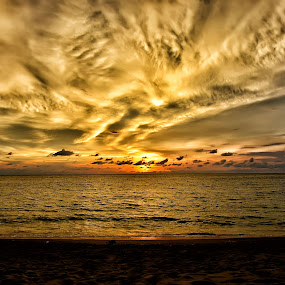 clouds that accompany the sunset while night came instead by Hendra Edi Saputra - Landscapes Sunsets & Sunrises