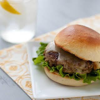 Mushroom-Crusted Turkey Burgers with Havarti.