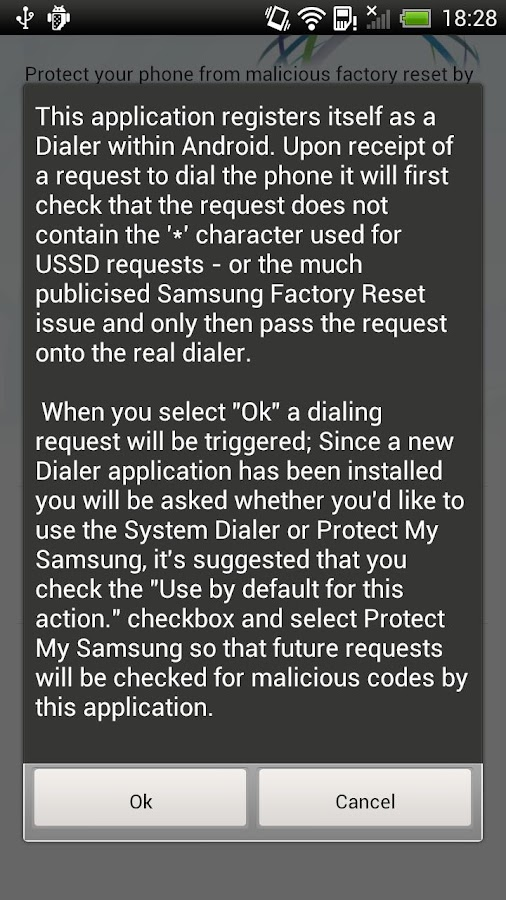 Protect My Samsung - screenshot