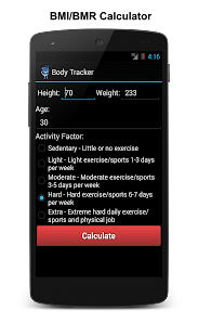 Body Fat Calculator, BMI, BMR - screenshot thumbnail