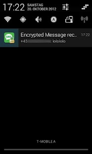 PGP SMS lite - screenshot thumbnail