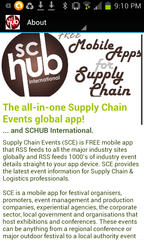 Supply Chain Events - screenshot